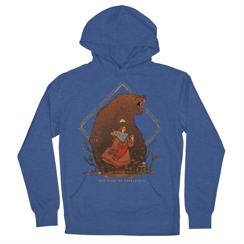 Old Gods of Appalachia: The Witch Queen and Bartholomew Men's French Terry Pullover Hoody by OLD GODS OF APPALACHIA
