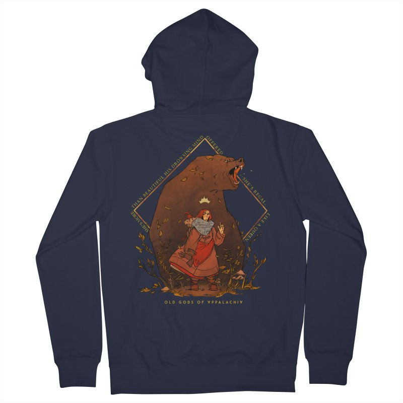 Old Gods of Appalachia: The Witch Queen and Bartholomew Men's French Terry Zip-Up Hoody by OLD GODS OF APPALACHIA