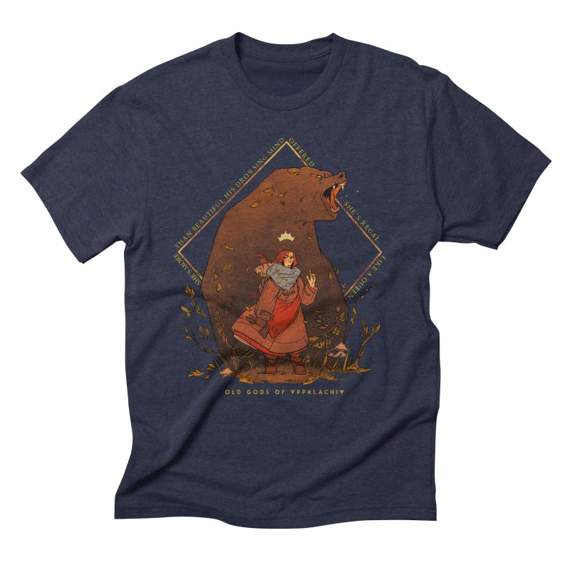 Old Gods of Appalachia: The Witch Queen and Bartholomew Men's Triblend T-Shirt by OLD GODS OF APPALACHIA