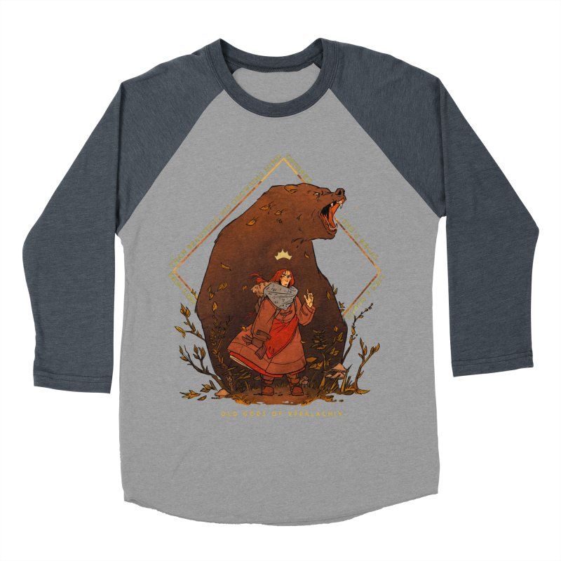 Old Gods of Appalachia: The Witch Queen and Bartholomew Men's Baseball Triblend Longsleeve T-Shirt by OLD GODS OF APPALACHIA