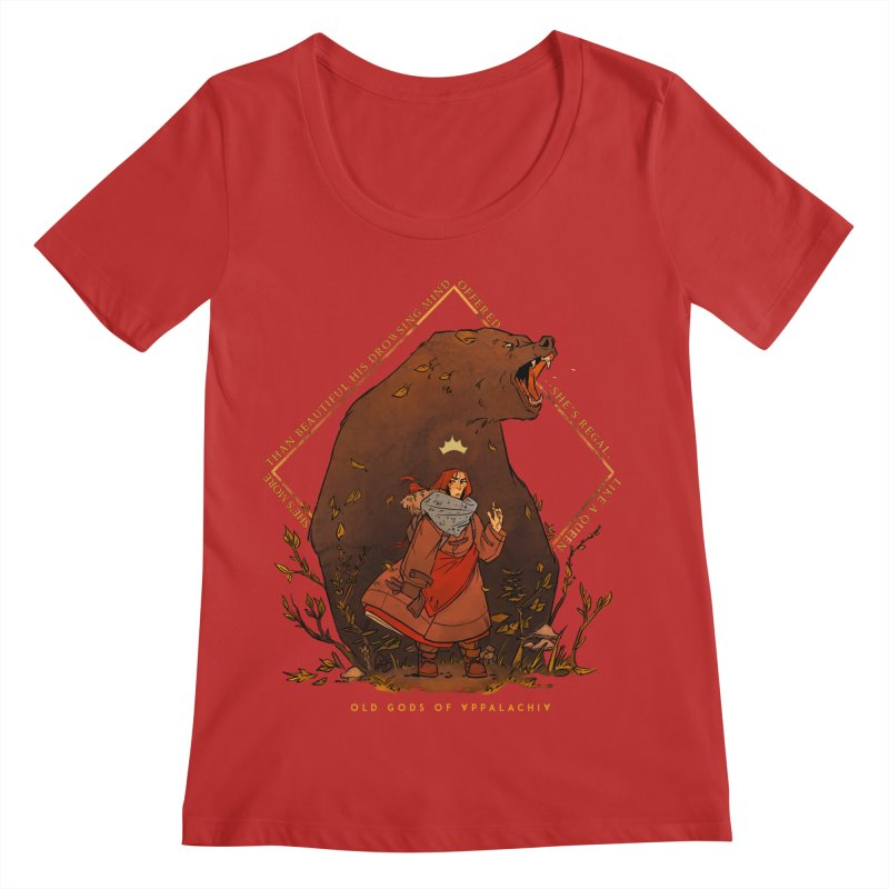 Old Gods of Appalachia: The Witch Queen and Bartholomew Women's Regular Scoop Neck by OLD GODS OF APPALACHIA