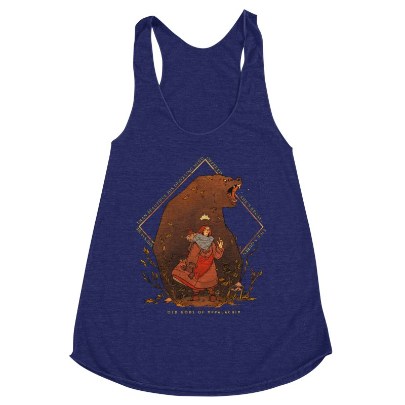 Old Gods of Appalachia: The Witch Queen and Bartholomew Women's Racerback Triblend Tank by OLD GODS OF APPALACHIA