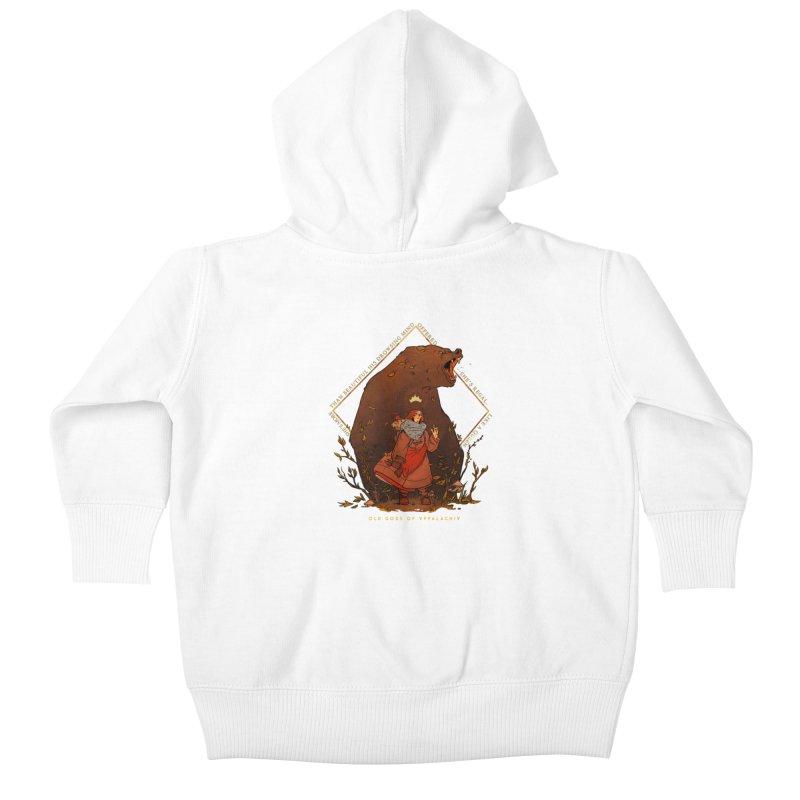 Old Gods of Appalachia: The Witch Queen and Bartholomew Kids Baby Zip-Up Hoody by OLD GODS OF APPALACHIA