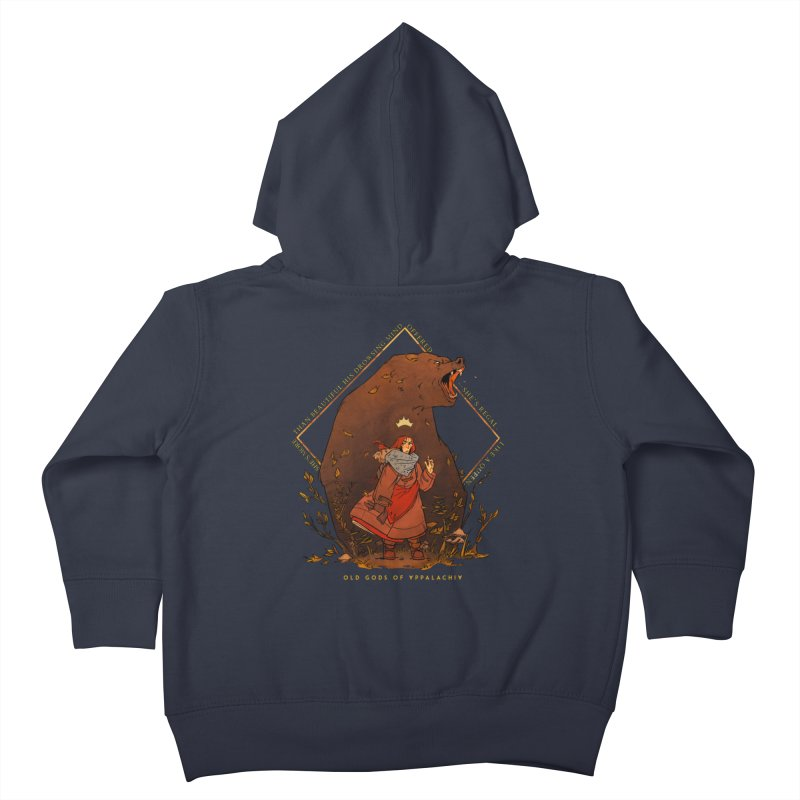 Old Gods of Appalachia: The Witch Queen and Bartholomew Kids Toddler Zip-Up Hoody by OLD GODS OF APPALACHIA