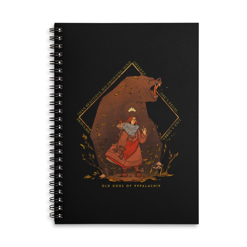 Old Gods of Appalachia: The Witch Queen and Bartholomew Accessories Lined Spiral Notebook by OLD GODS OF APPALACHIA