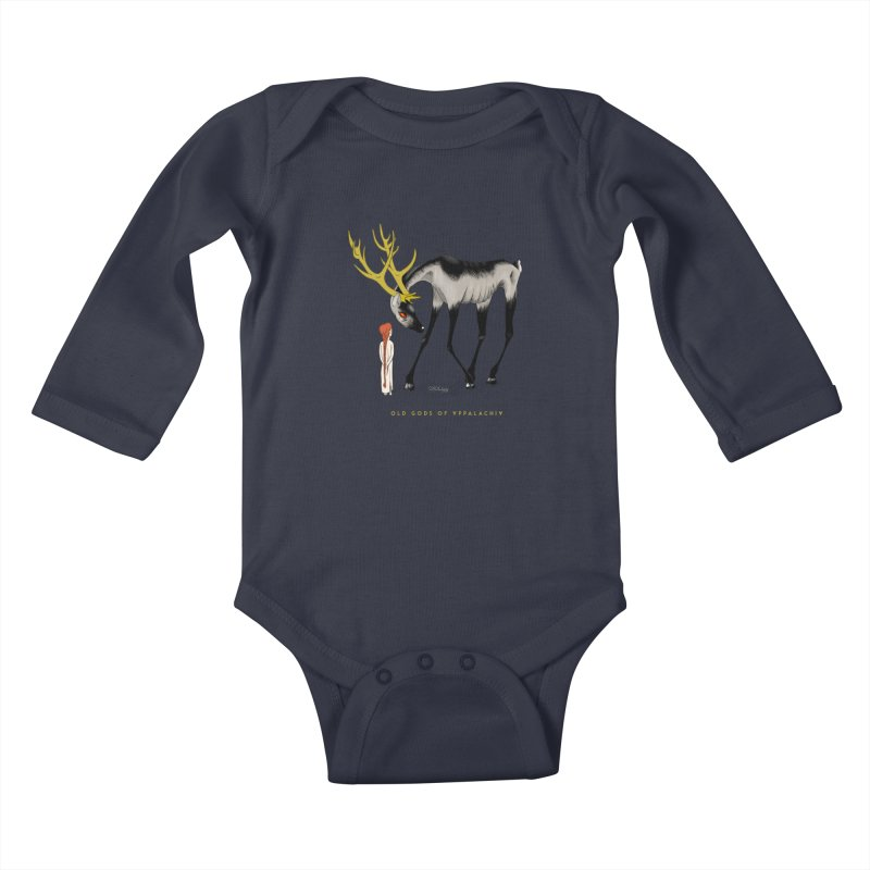 Old Gods of Appalachia: Speak True Beast Kids Baby Longsleeve Bodysuit by OLD GODS OF APPALACHIA