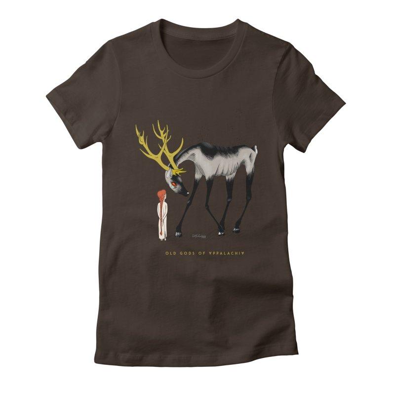 Old Gods of Appalachia: Speak True Beast Women's Fitted T-Shirt by OLD GODS OF APPALACHIA