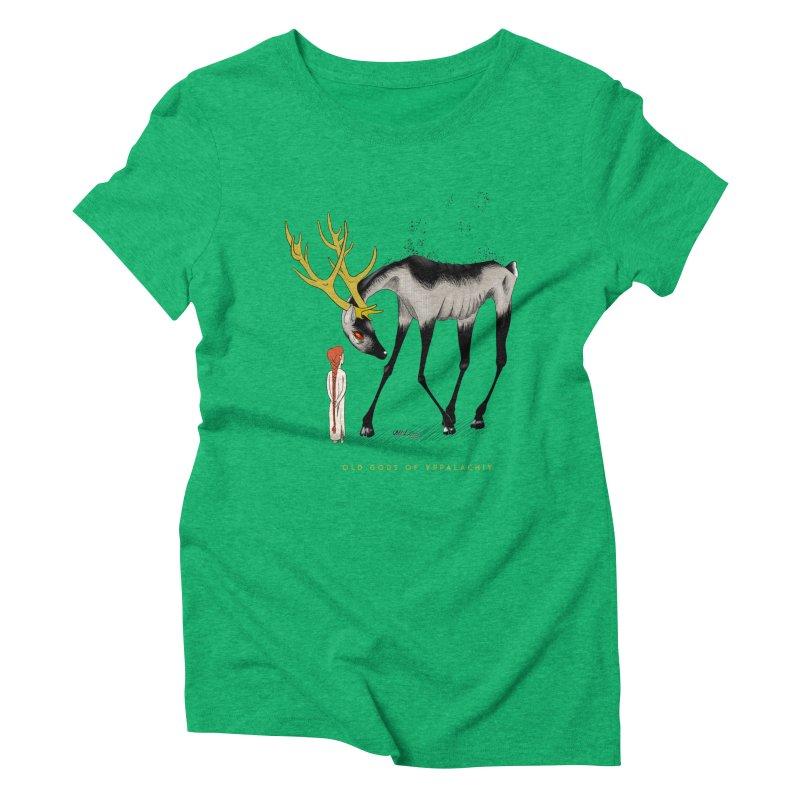 Old Gods of Appalachia: Speak True Beast Women's Triblend T-Shirt by OLD GODS OF APPALACHIA