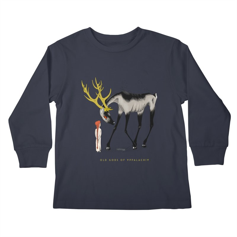Old Gods of Appalachia: Speak True Beast Kids Longsleeve T-Shirt by OLD GODS OF APPALACHIA