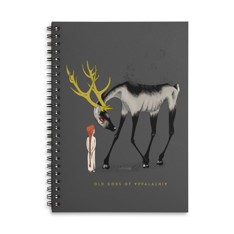 Old Gods of Appalachia: Speak True Beast Accessories Lined Spiral Notebook by OLD GODS OF APPALACHIA