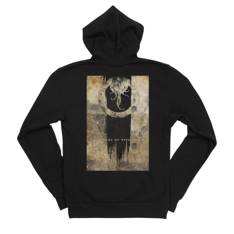 Old Gods of Appalachia: Bone and Shadow Men's Sponge Fleece Zip-Up Hoody by OLD GODS OF APPALACHIA