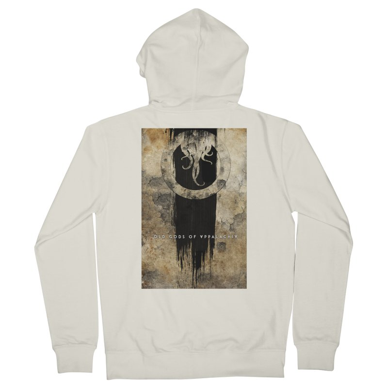 Old Gods of Appalachia: Bone and Shadow Women's French Terry Zip-Up Hoody by OLD GODS OF APPALACHIA