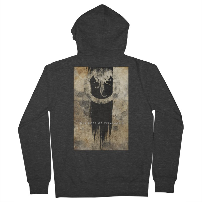 Old Gods of Appalachia: Bone and Shadow Men's French Terry Zip-Up Hoody by OLD GODS OF APPALACHIA