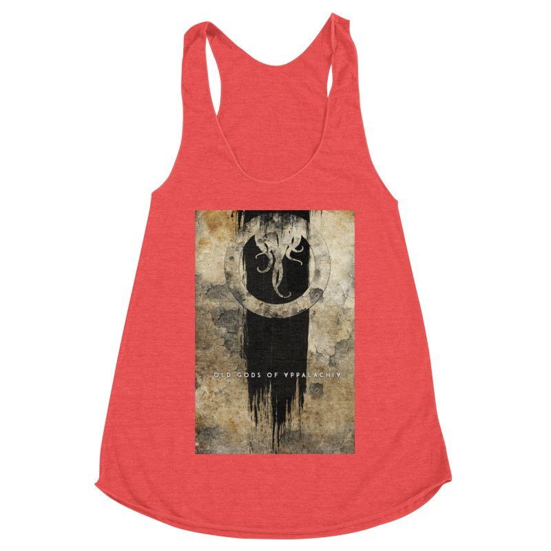 Old Gods of Appalachia: Bone and Shadow Women's Racerback Triblend Tank by OLD GODS OF APPALACHIA