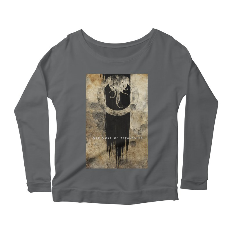 Old Gods of Appalachia: Bone and Shadow Women's Scoop Neck Longsleeve T-Shirt by OLD GODS OF APPALACHIA
