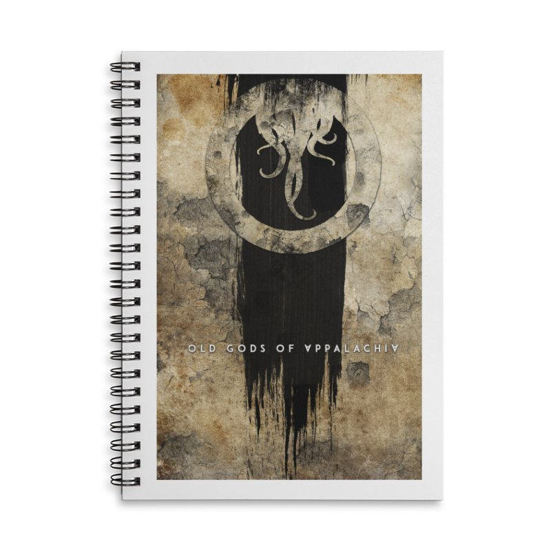 Old Gods of Appalachia: Bone and Shadow Accessories Lined Spiral Notebook by OLD GODS OF APPALACHIA