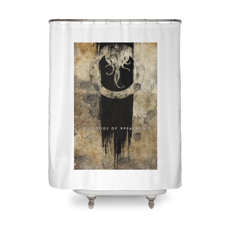 Old Gods of Appalachia: Bone and Shadow Home Shower Curtain by OLD GODS OF APPALACHIA