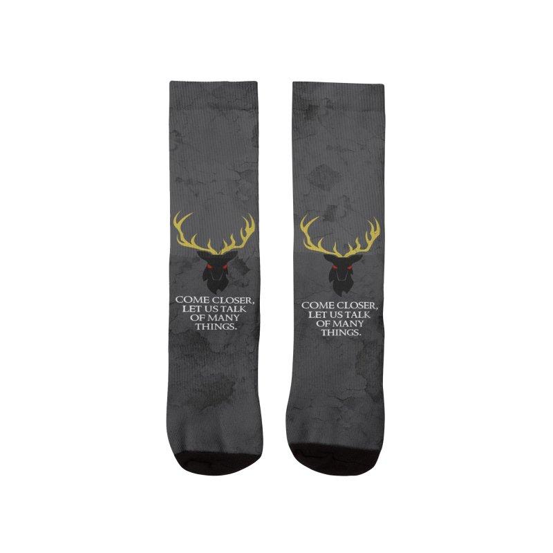 The Black Stag: Speak of Many Socks Women's Socks by OLD GODS OF APPALACHIA
