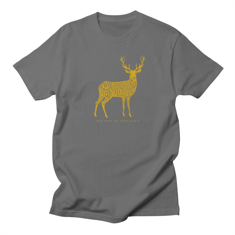 Horned Head: Meatchart Gold Men's T-Shirt by OLD GODS OF APPALACHIA