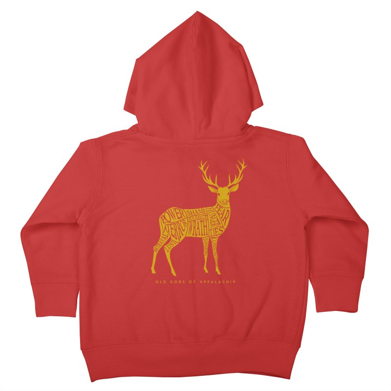 Horned Head: Meatchart Gold Kids Toddler Zip-Up Hoody by OLD GODS OF APPALACHIA
