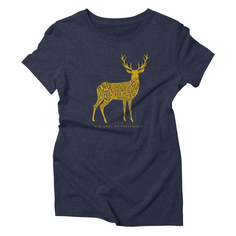 Horned Head: Meatchart Gold Women's T-Shirt by OLD GODS OF APPALACHIA