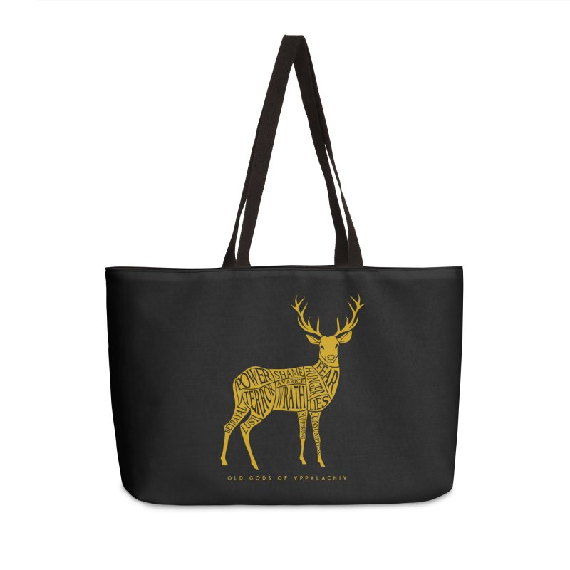 Horned Head: Meatchart Gold Accessories Bag by OLD GODS OF APPALACHIA