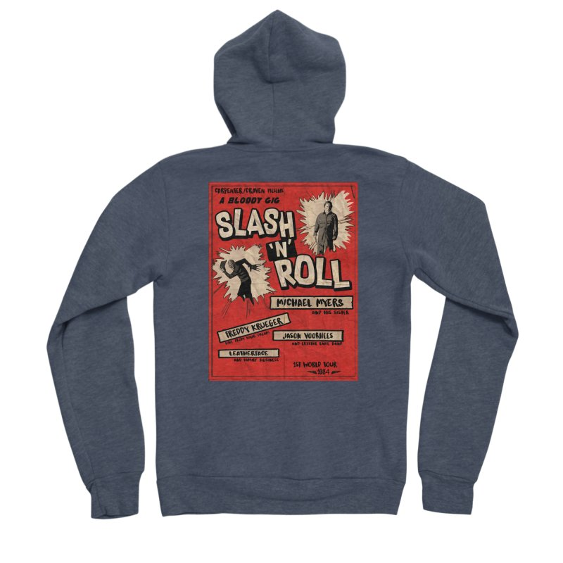 Slash And Roll Men's Sponge Fleece Zip-Up Hoody by oldtee's Artist Shop