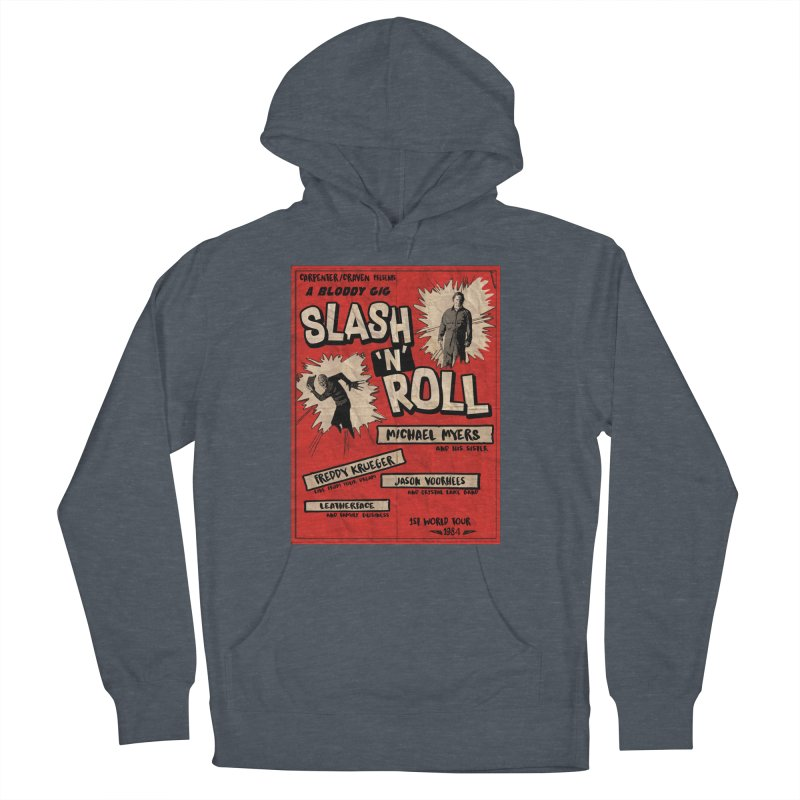 Slash And Roll Women's French Terry Pullover Hoody by oldtee's Artist Shop