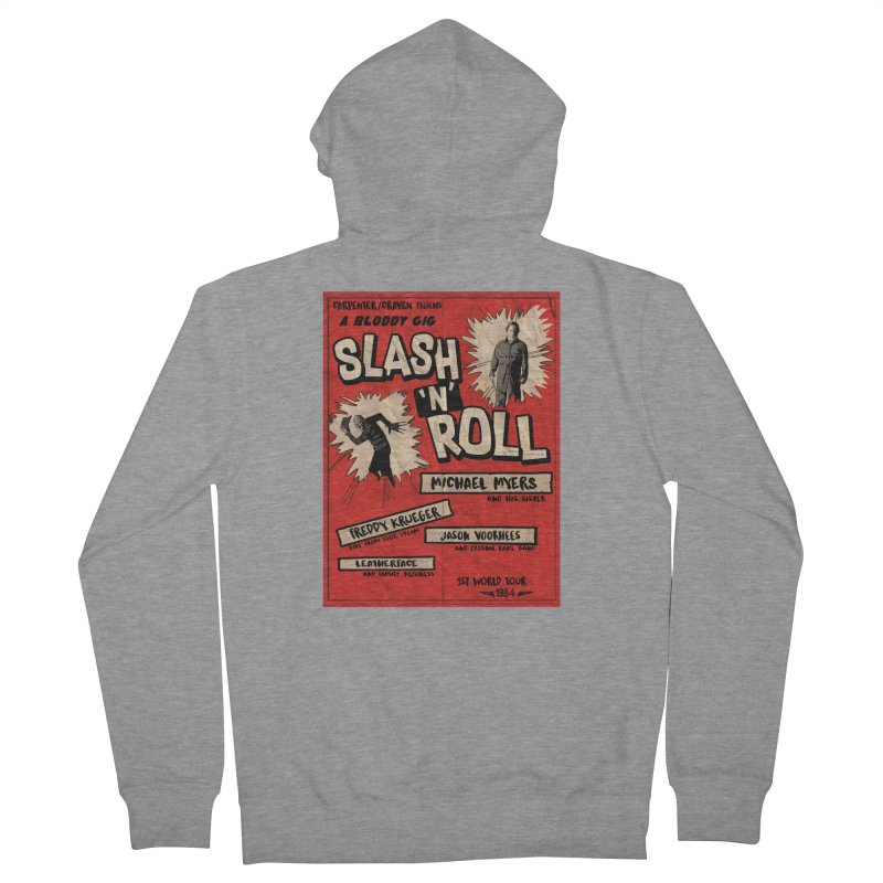 Slash And Roll Men's French Terry Zip-Up Hoody by oldtee's Artist Shop