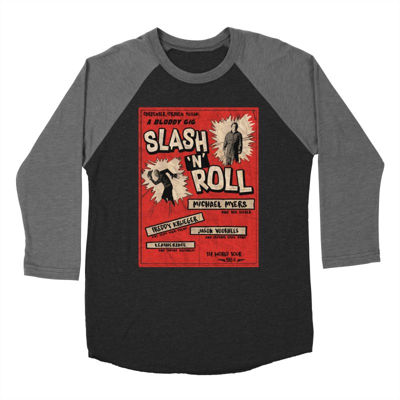 Slash And Roll Women's Baseball Triblend Longsleeve T-Shirt by oldtee's Artist Shop