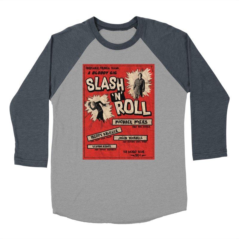 Slash And Roll Women's Baseball Triblend Longsleeve T-Shirt by oldtee's Artist Shop