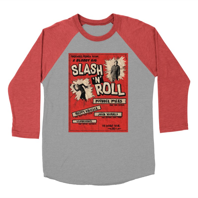 Slash And Roll Men's Baseball Triblend Longsleeve T-Shirt by oldtee's Artist Shop