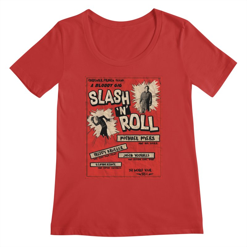 Slash And Roll Women's Regular Scoop Neck by oldtee's Artist Shop