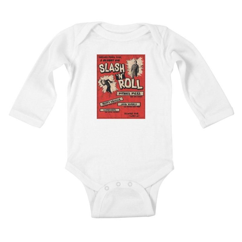 Slash And Roll Kids Baby Longsleeve Bodysuit by oldtee's Artist Shop