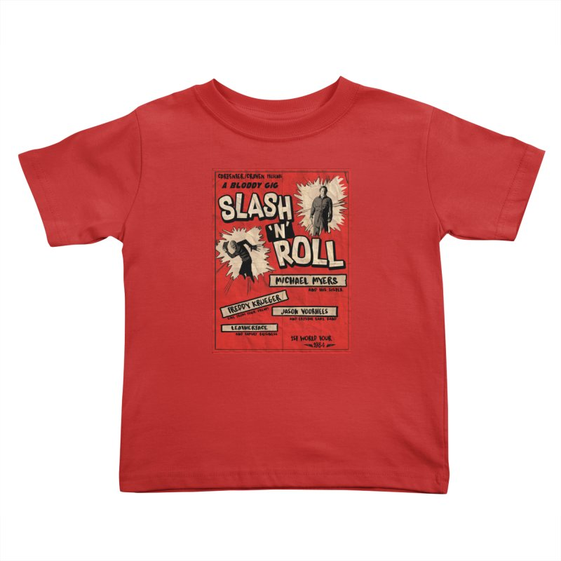 Slash And Roll Kids Toddler T-Shirt by oldtee's Artist Shop