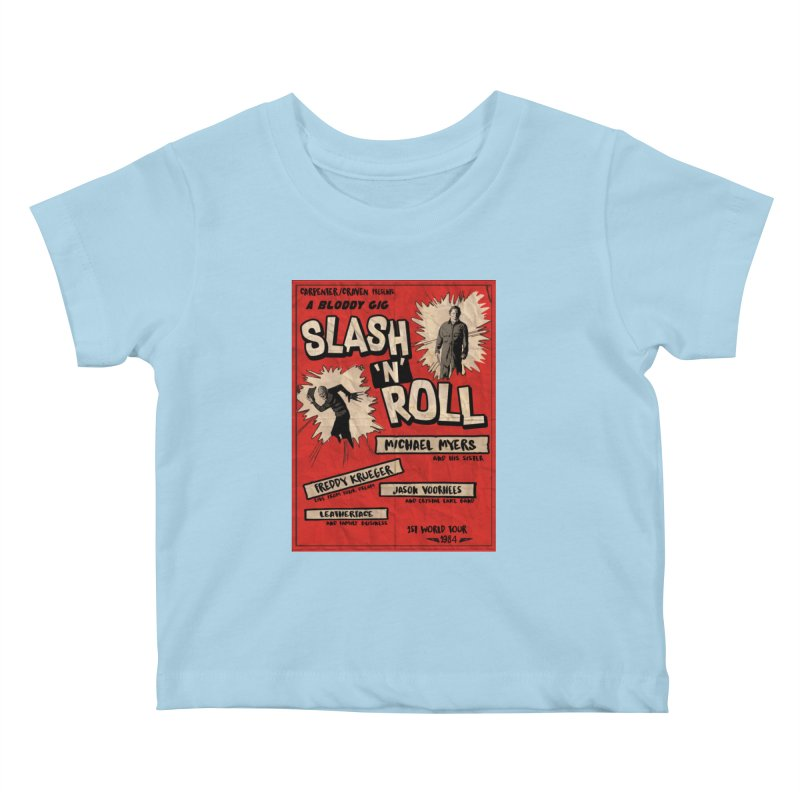 Slash And Roll Kids Baby T-Shirt by oldtee's Artist Shop