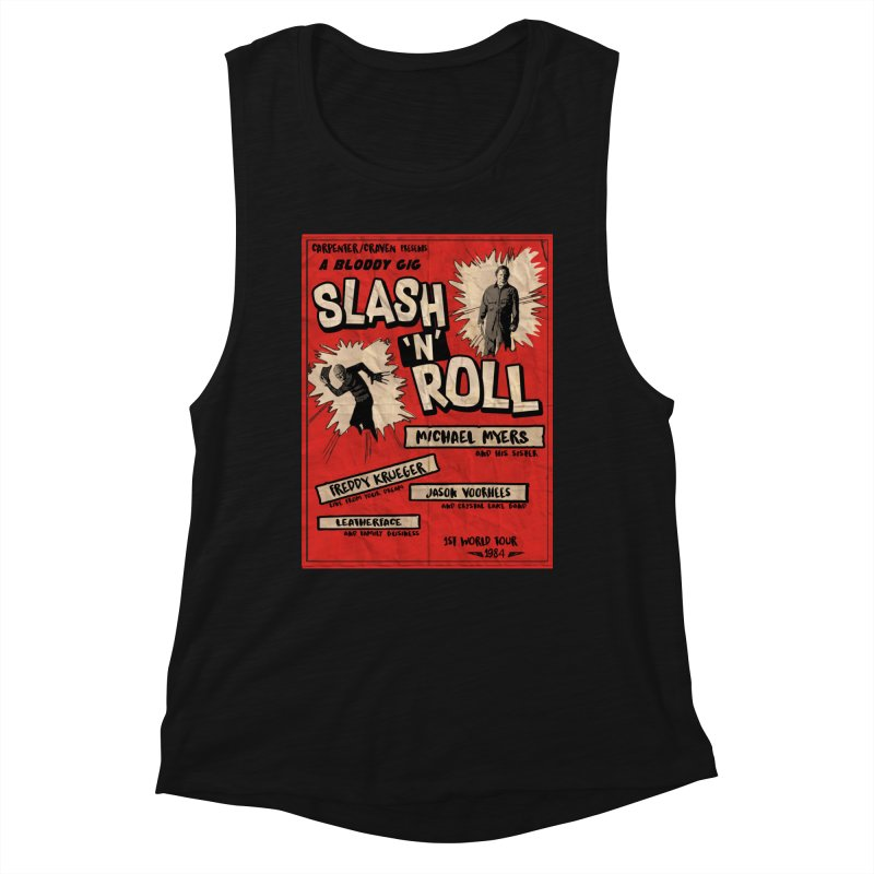 Slash And Roll Women's Muscle Tank by oldtee's Artist Shop
