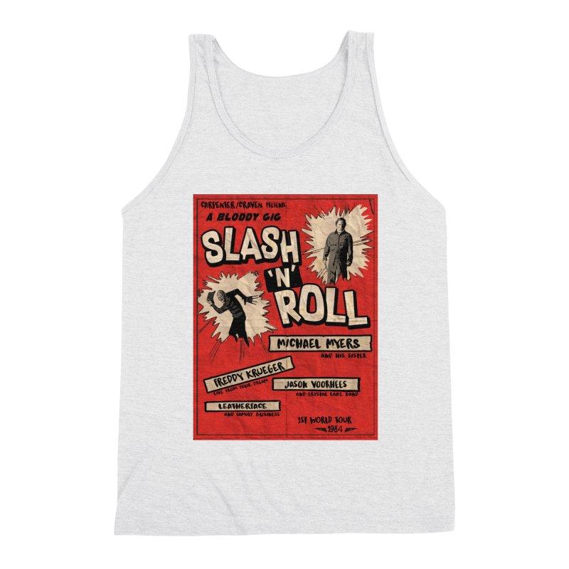 Slash And Roll Men's Triblend Tank by oldtee's Artist Shop