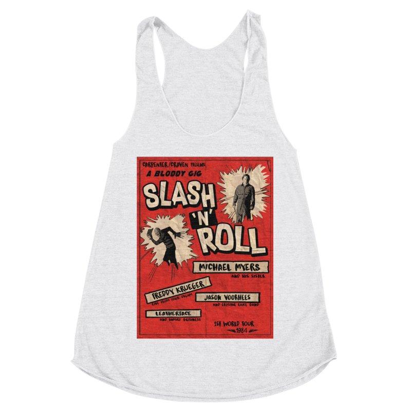 Slash And Roll Women's Racerback Triblend Tank by oldtee's Artist Shop