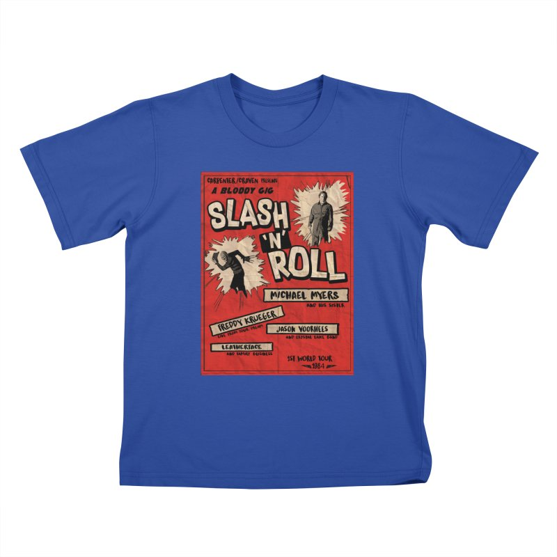 Slash And Roll Kids T-Shirt by oldtee's Artist Shop