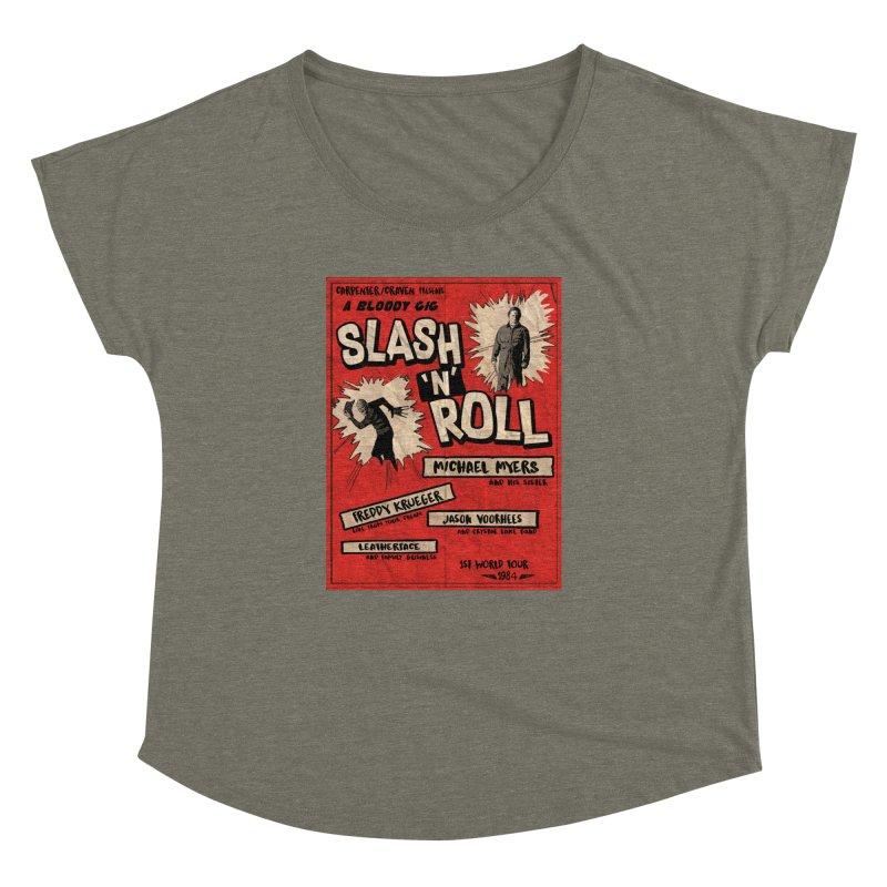 Slash And Roll Women's Dolman Scoop Neck by oldtee's Artist Shop