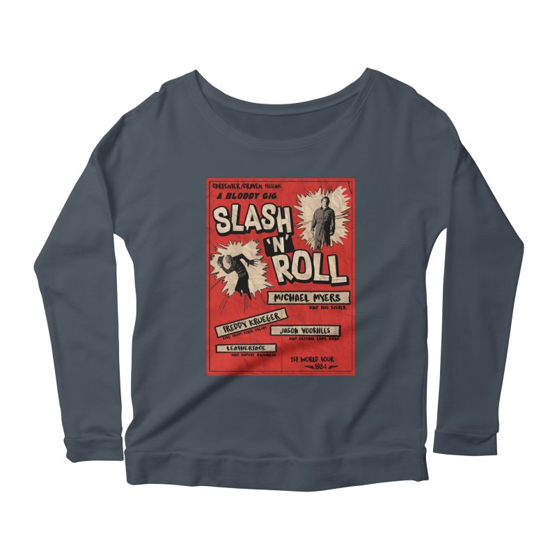 Slash And Roll Women's Scoop Neck Longsleeve T-Shirt by oldtee's Artist Shop