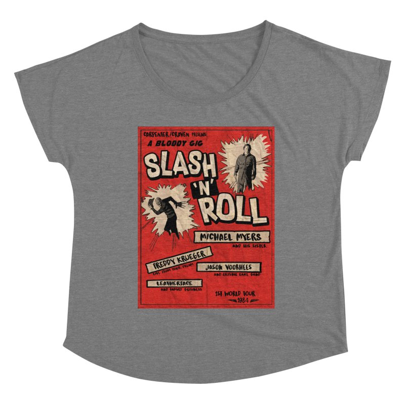 Slash And Roll Women's Scoop Neck by oldtee's Artist Shop