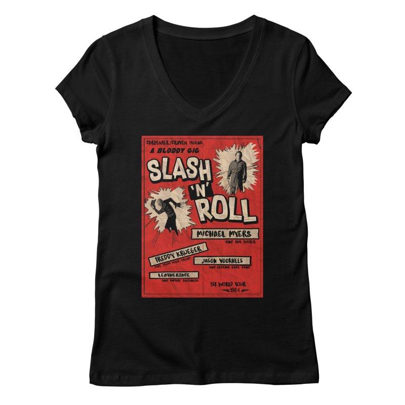Slash And Roll Women's Regular V-Neck by oldtee's Artist Shop