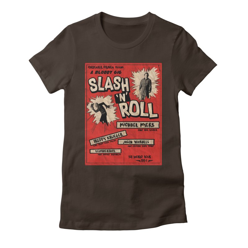 Slash And Roll Women's Fitted T-Shirt by oldtee's Artist Shop
