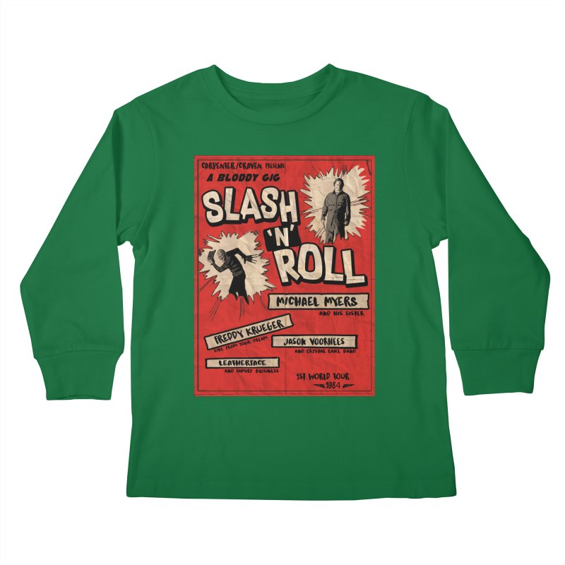 Slash And Roll Kids Longsleeve T-Shirt by oldtee's Artist Shop