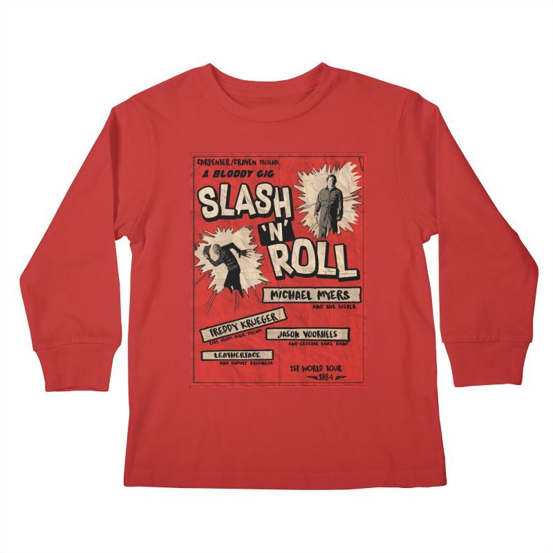 Slash And Roll Kids Longsleeve T-Shirt by oldtee's Artist Shop