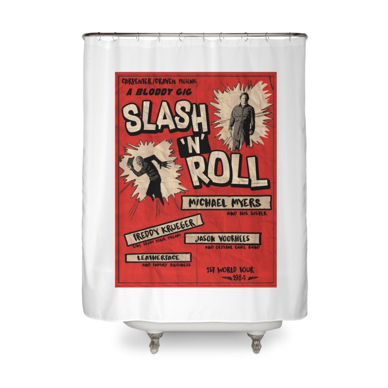Slash And Roll Home Shower Curtain by oldtee's Artist Shop