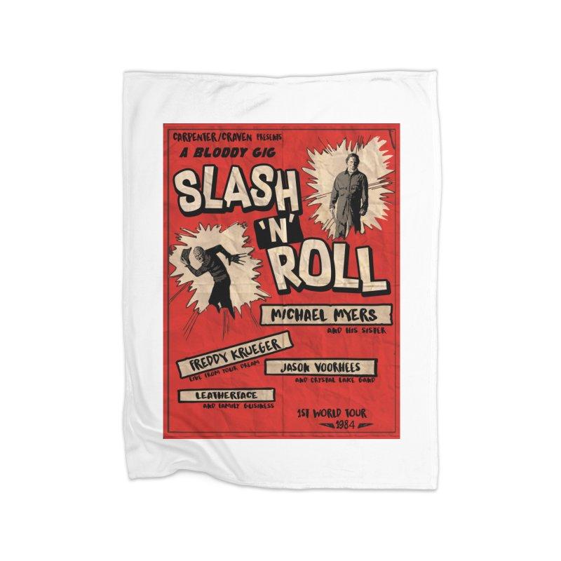 Slash And Roll Home Fleece Blanket Blanket by oldtee's Artist Shop