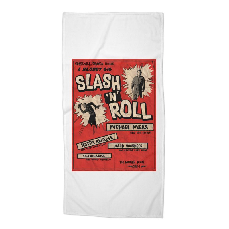 Slash And Roll Accessories Beach Towel by oldtee's Artist Shop